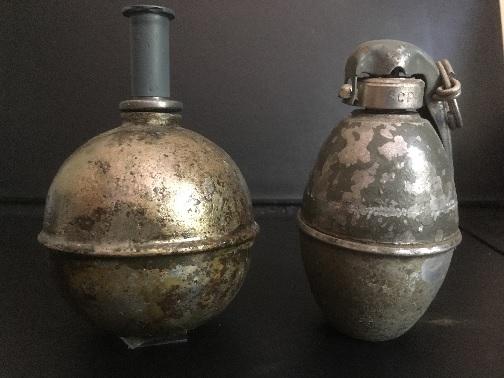 AB Mle 1916 et incendiaire fumigène Mle 1916