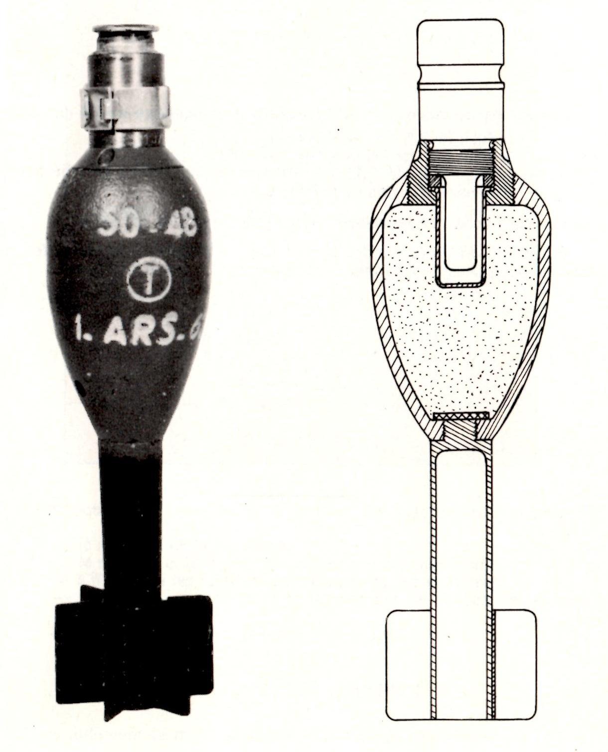 Antipersonnel mle 1948 schema