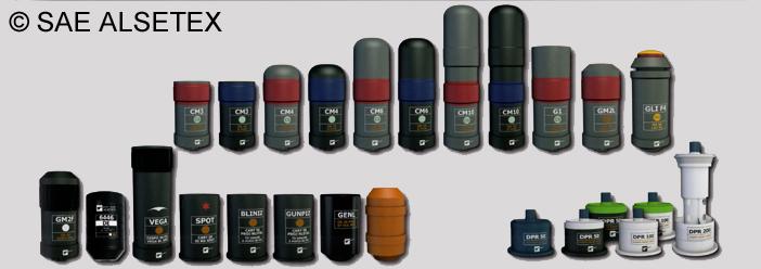 Bis alsetex grenades 56mm 1 sd