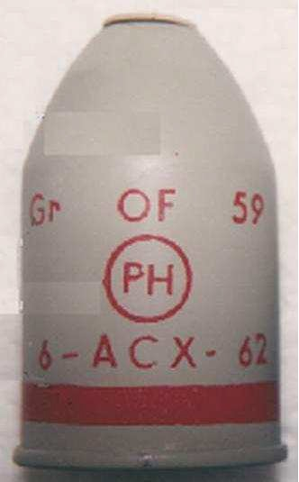 French of 59 phosphorous grenade