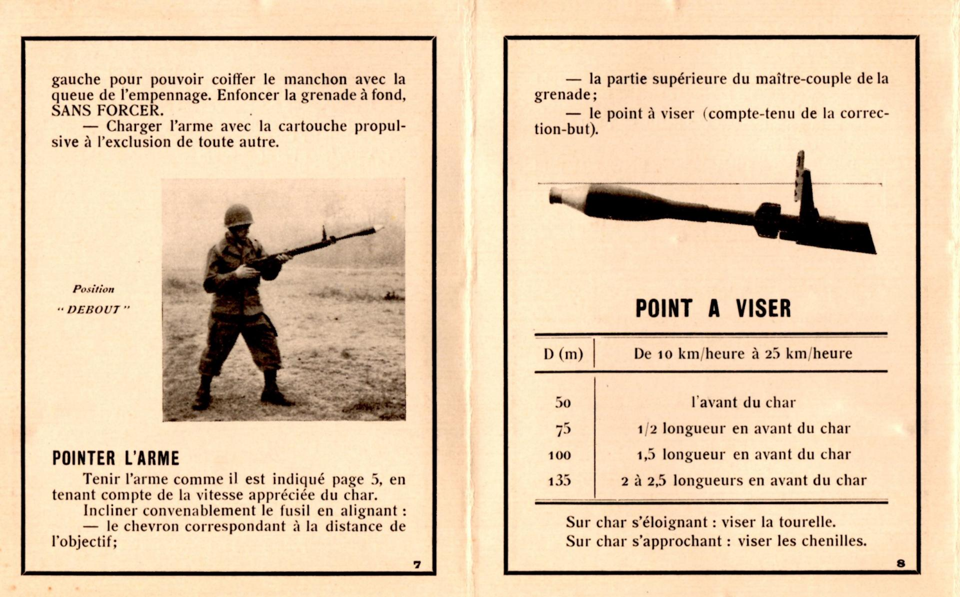 Grenade antichar a fusil de 60 mm modele 1951 livret 2