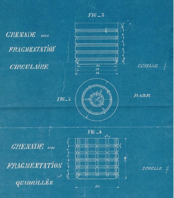 Grenade gerard quadrillage