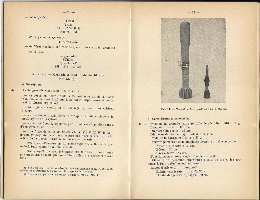 Grenades a fusil 1957 p28 29