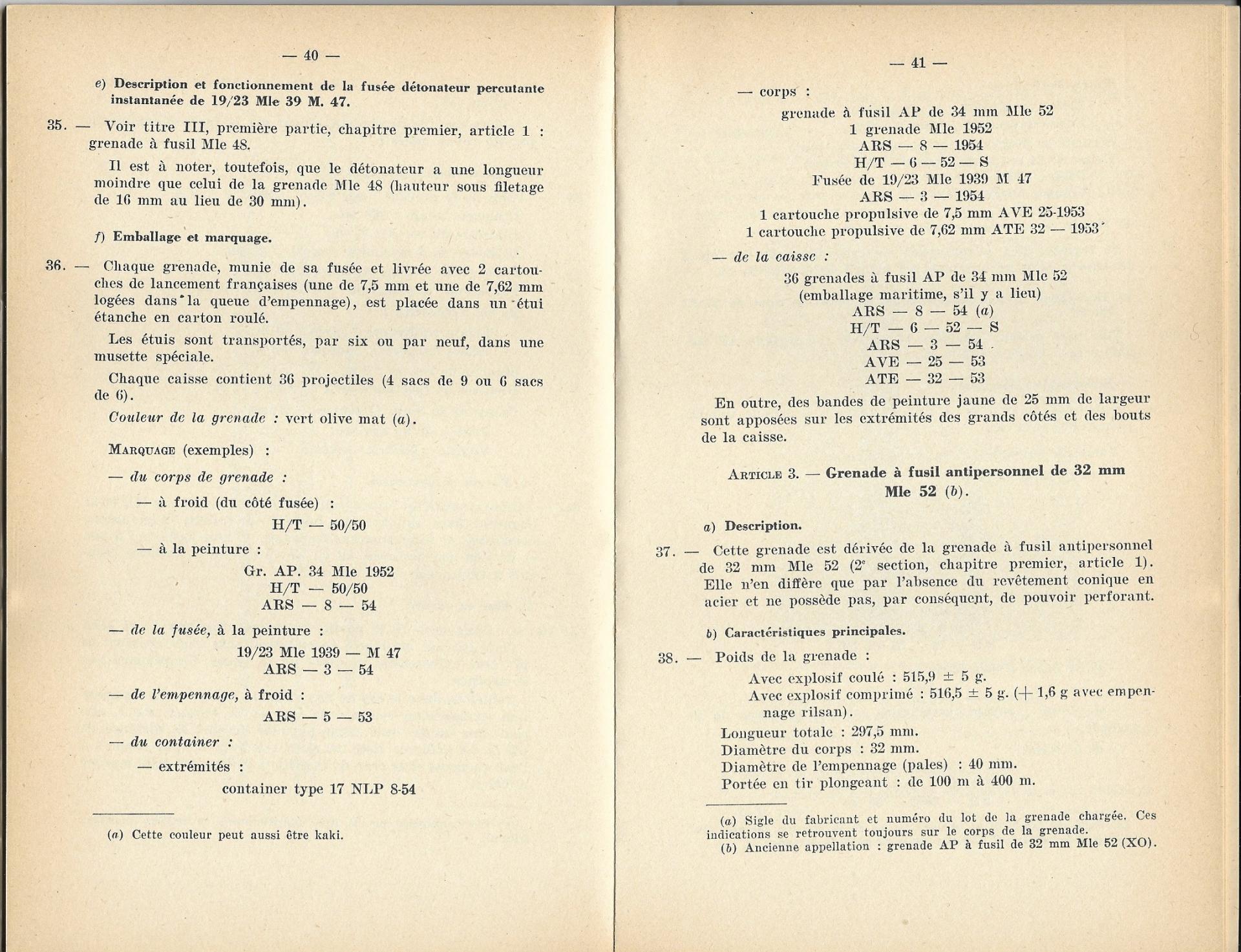 Grenades a fusil 1957 p40 41 1