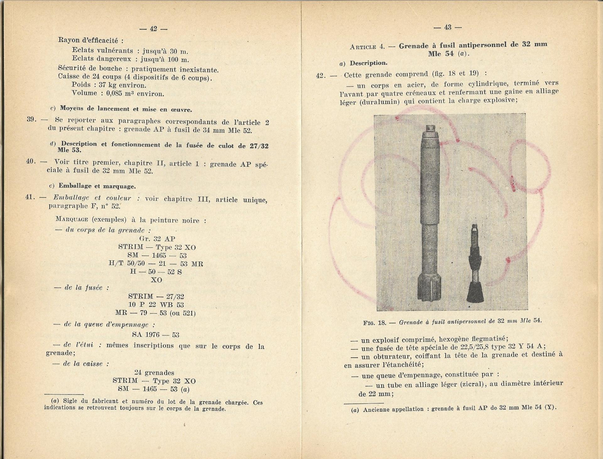 Grenades a fusil 1957 p42 43 1