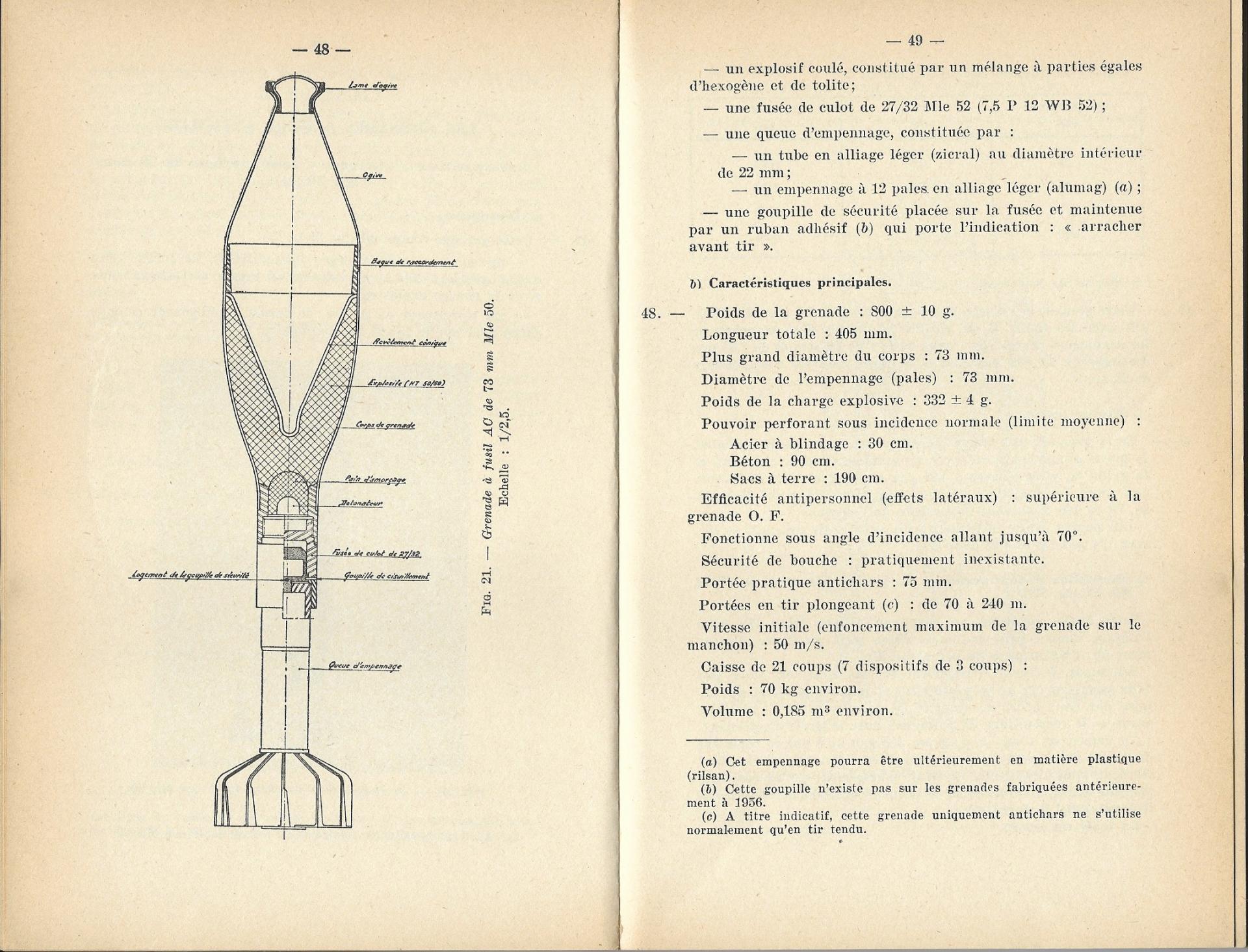 Grenades a fusil 1957 p48 49