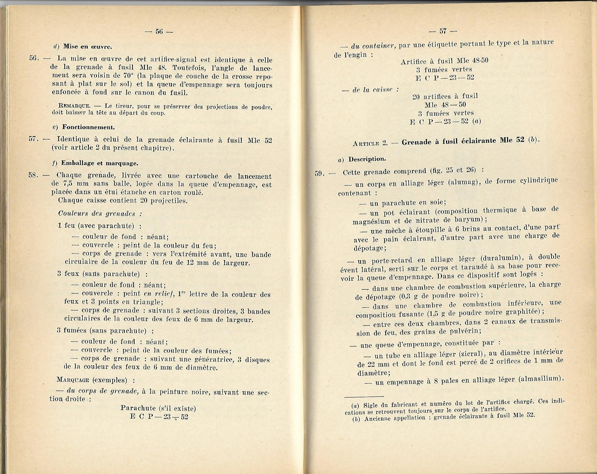 Grenades a fusil 1957 p56 57