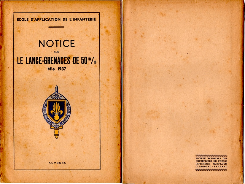 Notice lance grenade mle 37 1947 1