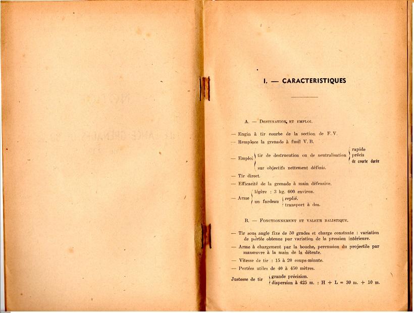 Notice lance grenade mle 37 1947 3