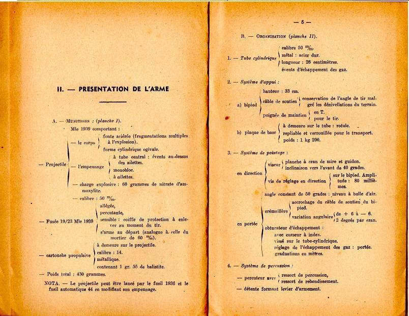 Notice lance grenade mle 37 1947 4