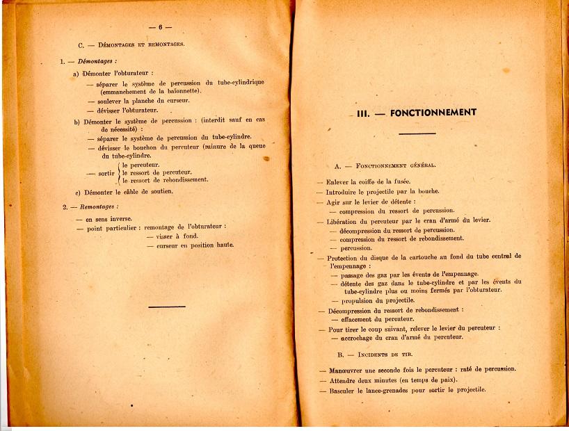Notice lance grenade mle 37 1947 5