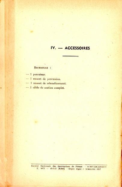 Notice lance grenade mle 37 1947 6