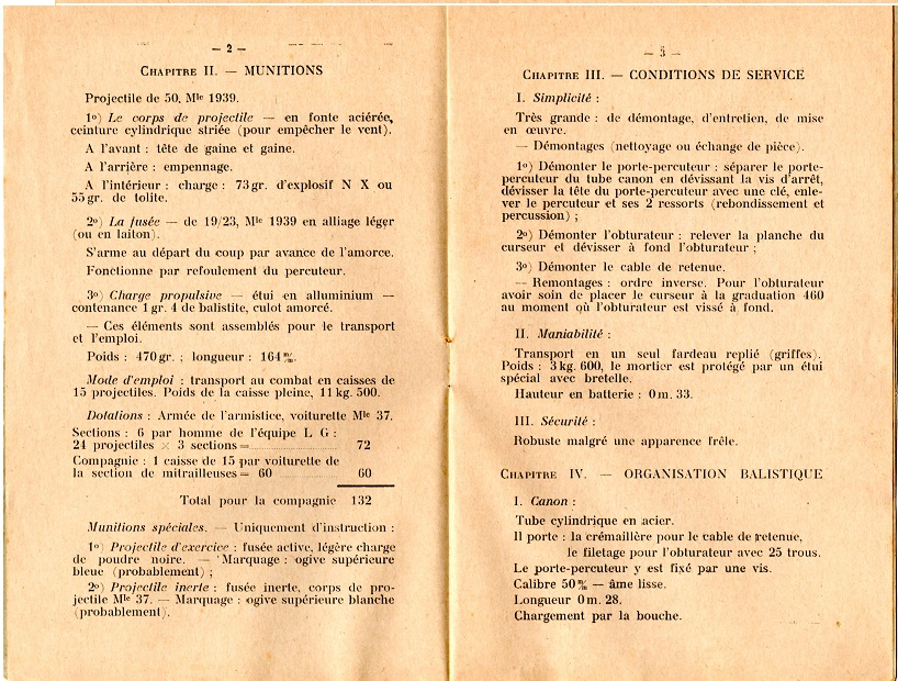 Notice lance grenade mle 37 3