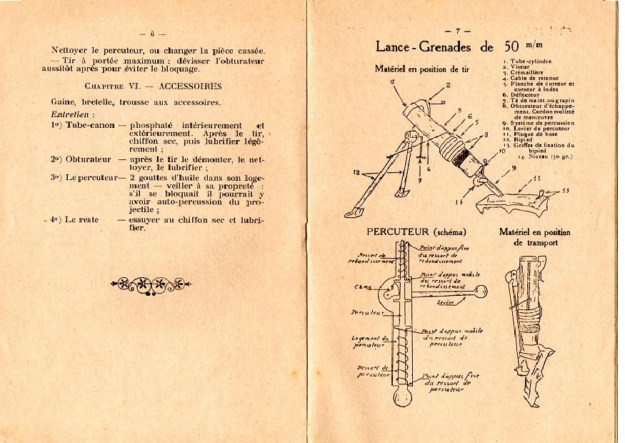 Notice lance grenade mle 37 4